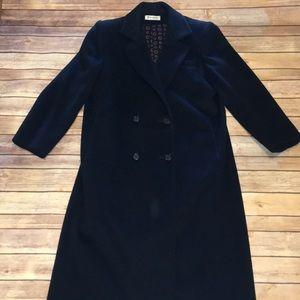 Vintage navy wool long pea coat forecaster brand